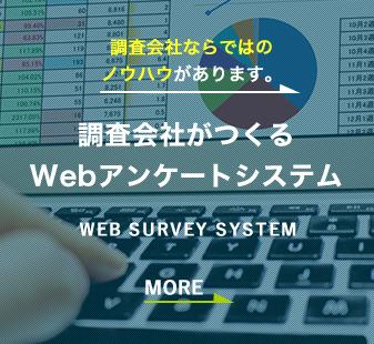 調査会社ならではのノウハウがあります。調査会社がつくるWebアンケートシステム